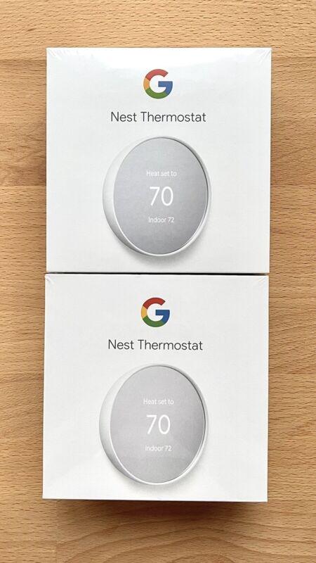 2 Google Nest Thermostats - Snow