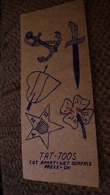 Cheap Tissue Paper ( Vintage 1940s TATTOO Flash Art Tissue Paper Temporary Transfers)