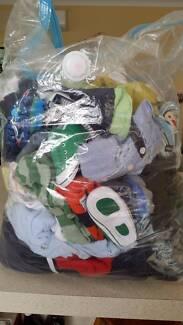 Big bundle of baby boy clothes