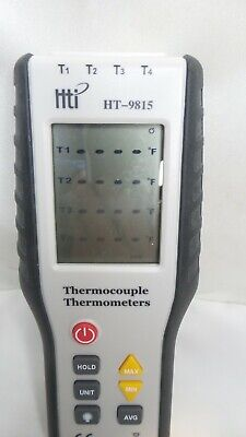 Hti Thermocouple Thermometer 4 Channel K Type Digital Thermometer Ht-9815