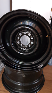 15x8 wheels steel holden ford Cardiff Lake Macquarie Area Preview
