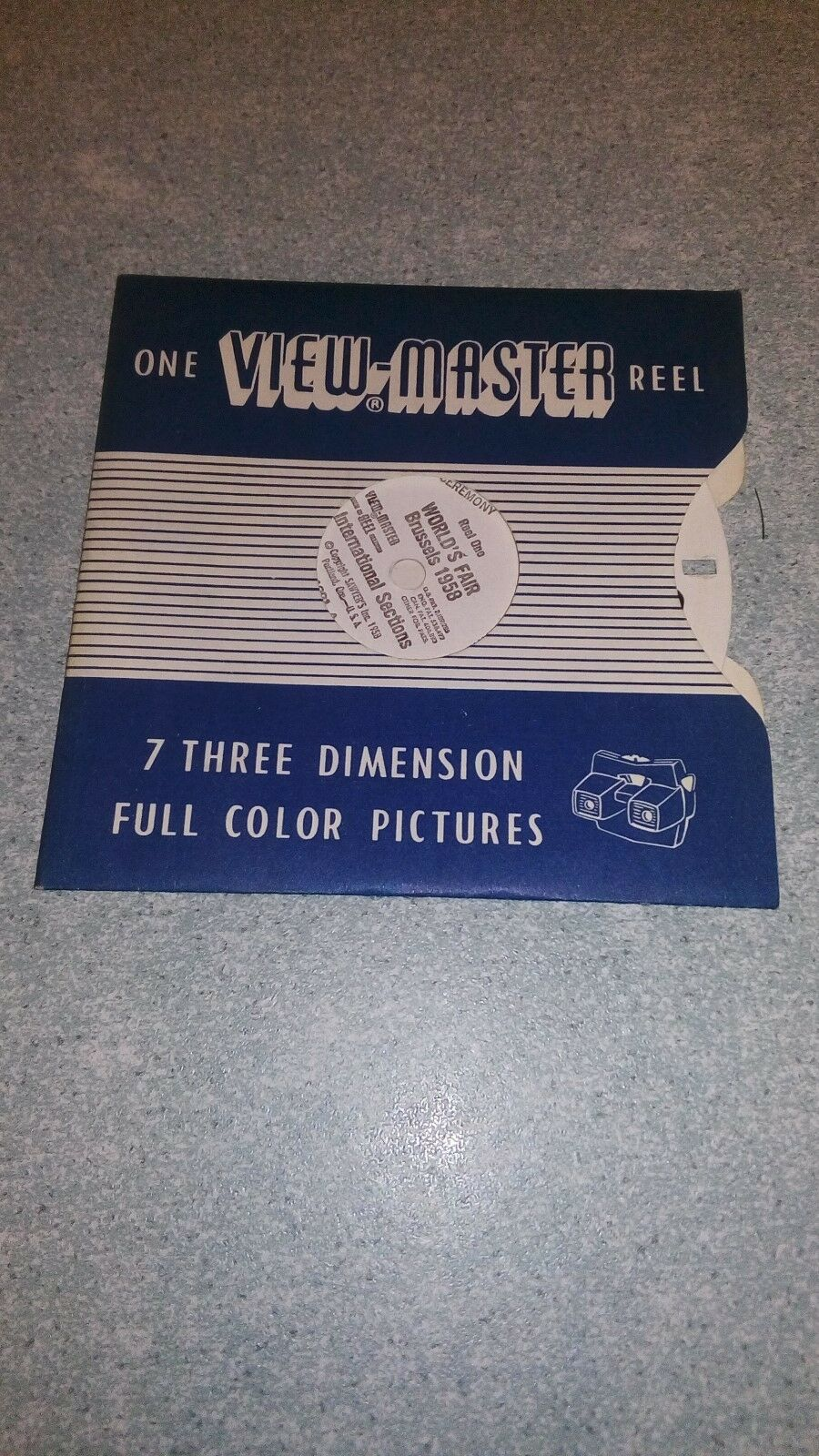 view master ancien disque World s fair brussels 1958 /gay belgium 1993B