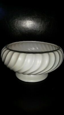 "GORGEOUS LARGE DARTMOUTH DEVON POTTERY TWISTED BOWL 8"" DIA  4"" TALL"