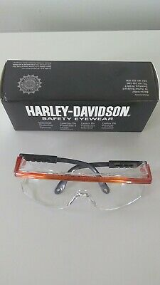 Harley Davidson Motorcycle Safety Riding Glasses Metal Frame Clear Lens Hd200 Fs