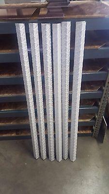 18 Aluminum Diamond Plate Angle Corner Guards 1 12 X 1 12 X 48 Set Of 6