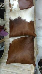 Cowhide leather backed 50x50 cushion covers Bonogin Gold Coast South Preview