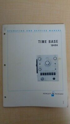 Hp Time Base 1840a Operating And Service Manual Oem 6f B6