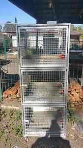 2 x 3 tier animal cages on wheels with watering system Tanah Merah Logan Area Preview