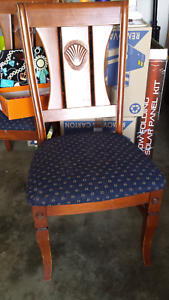 Dinning table with 6 chairs solid timber