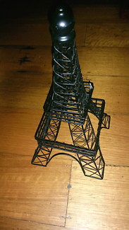 Eiffel tower home decor display in lounge room display cabinet