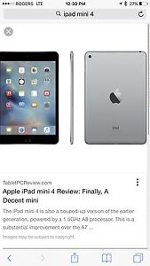 iPad mini 4 Retina / cellular + Wifi 64gb
