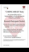 *Update: McMaster CaringAhead: families of persons with dementia