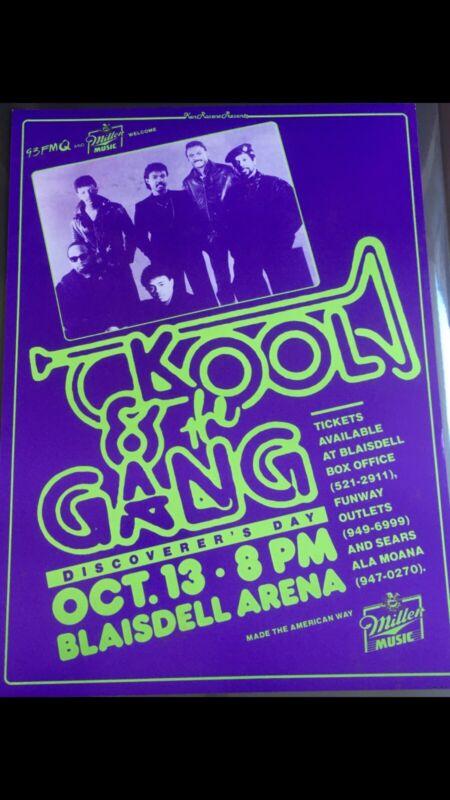 KOOL & THE GANG ORIGINAL VINTAGE HAWAII CONCERT POSTER (((RARE & AUTHENTIC)))