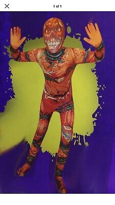 Male Pumpkin Costume (BODYSUIT MorphCostumes Pumpkin Calabaza Scary Halloween  Costume Large)