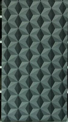 3 Rollen Vliestapete  96255-2 Anthrazit-Grau   Muster grafisch  Glitzer Grau-muster