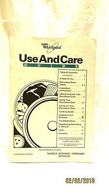 Whirlpool Microwave Use and Care Guide Models 9100SF.9101SF/9090SF