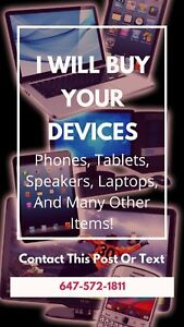 Used or new electronics for cash