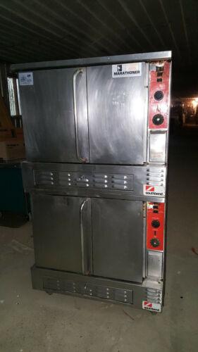 Southbend Marathoner Double Deck Stack Natural Gas Full Size Convection Oven Set