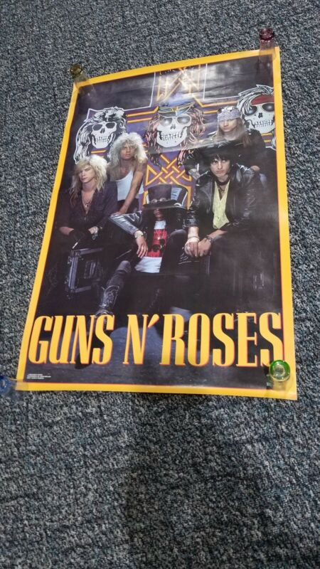 VINTAGE ORIGINAL 1988 GUNS N ROSES APPETITE FOR DESTRUCTION POSTER GNR