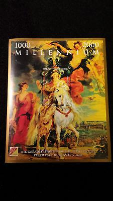 Minipliego Hoja Bloque Millennium Rubens 2000 Grandes Pintores S XVII