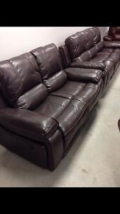 Brand New 2 piece Reclining Brown Leather Sofa and Love Seat!