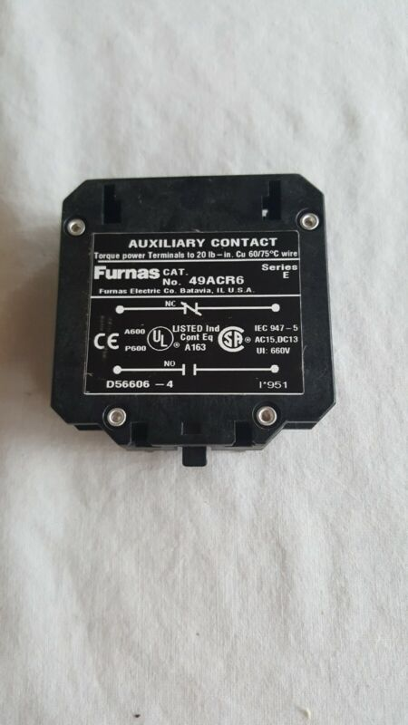 Furnas Auxiliary Contact 49ACR6, NO, +NC