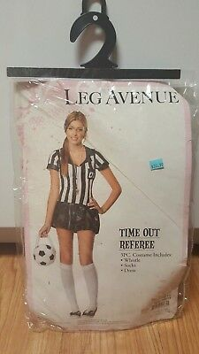 Referee Time Out (Leg Avenue Time Out Referee 3 Pc Costume Jr. S/M)