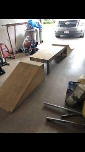 Scooter/skateboard ramps