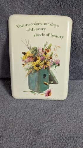 Marjolein Basin Natures Sketchbook Birdhouse With Flowers Metal Plaque