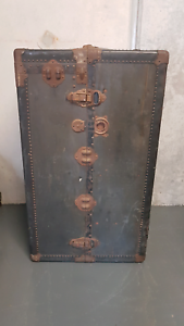 Antique Timber Steamer Trunk Large Chermside Brisbane North East Preview