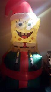 Gemmy Airblown Inflatable Christmas Spongebob Squarepants Present