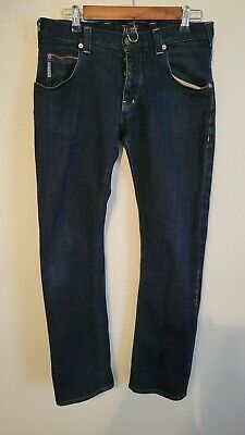 Armani jeans men's slim fit indigo blue Size 31 W 34 Inseam