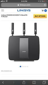 LINKSYS tri band WIFI Router