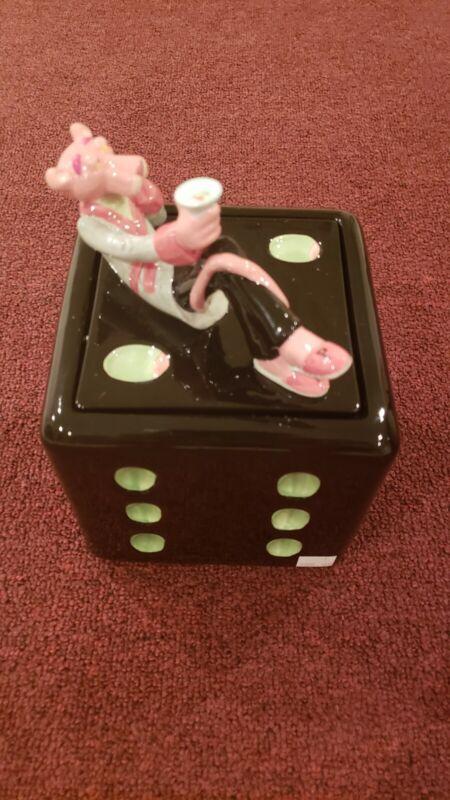 Vandor Pink Panther Dice Cookie Jar Vintage/ New