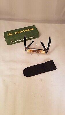 Case XX John Deere 5468 SS Small 4 Blade Congress Knife Stag Handles 2004 Mint