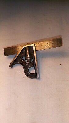 Vintage Starrett 4 Combination Square Hardened No 4 Inv581