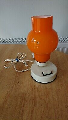 Vintage Small Orange Lamp (untested for spares or repair)