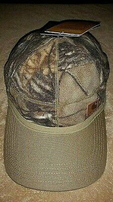 NWT Carhartt Mens Hat Ball Cap Camouflage Camo Fleece Comfort Stretch Wicking   Carhartt Camouflage Cap