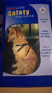 DOG SAFETY HARNESS > LARGE >SUITS ALL CARS>2 IN 1 SEAT BELT & WAL Roselands Canterbury Area Preview