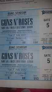 Selling Guns n Roses Brisbane 2x Silver seated Westlake Brisbane South West Preview