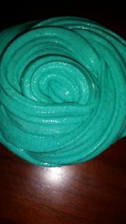 Green tea fluffy slime.