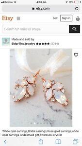 Crystal wedding earrings
