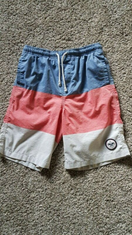 Boy Scouts of America red white and blue boys swim trunks boys size small