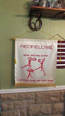 Vintage REDFIELD Regal Spotting Scopes Cloth Advertising Banner