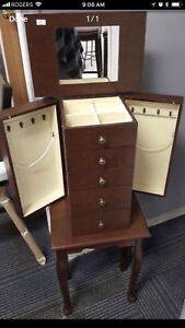 Brand New Contemporary Jewelry Armoire for Sale.