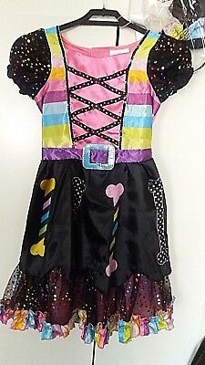 halloween candy witch dress up deluxe includes hat hair band new costume party Candy Dress Up