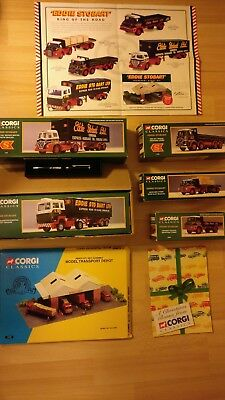 Eddie Stobart king of the road set with corgi pen and garage