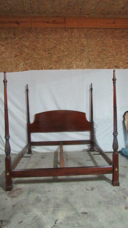 Mahogany KIng Size Poster Bed Banded Designer