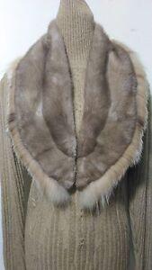 New design 100% real lynx with blue sapphire mink   fur scarf big collar