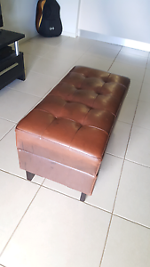 Brown Leather Ottoman Foot Rest with Storage Cooktown Cook Area Preview